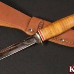 レザーワッシャーハンドルのナイフ特集