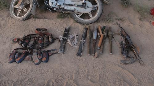 AK-47とRPG弾頭