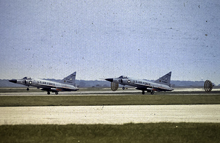 F-102's at Ellington AFB Airshow 1969.