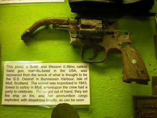 Smith and Wesson recovered from the SS Ostend