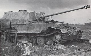 German Tiger Tank after hitting a mine