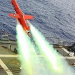 Drone launches from flight deck of USS Lassen.