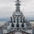 Big guns on the USS Alabama