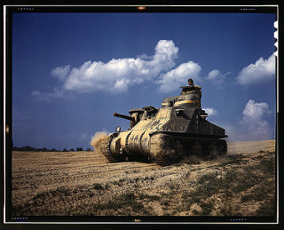 M-3 Tank in Action