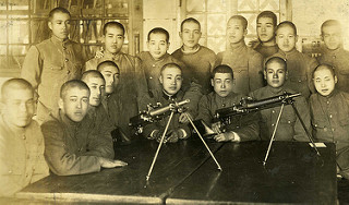 Japanese Soldiers with Machine Guns