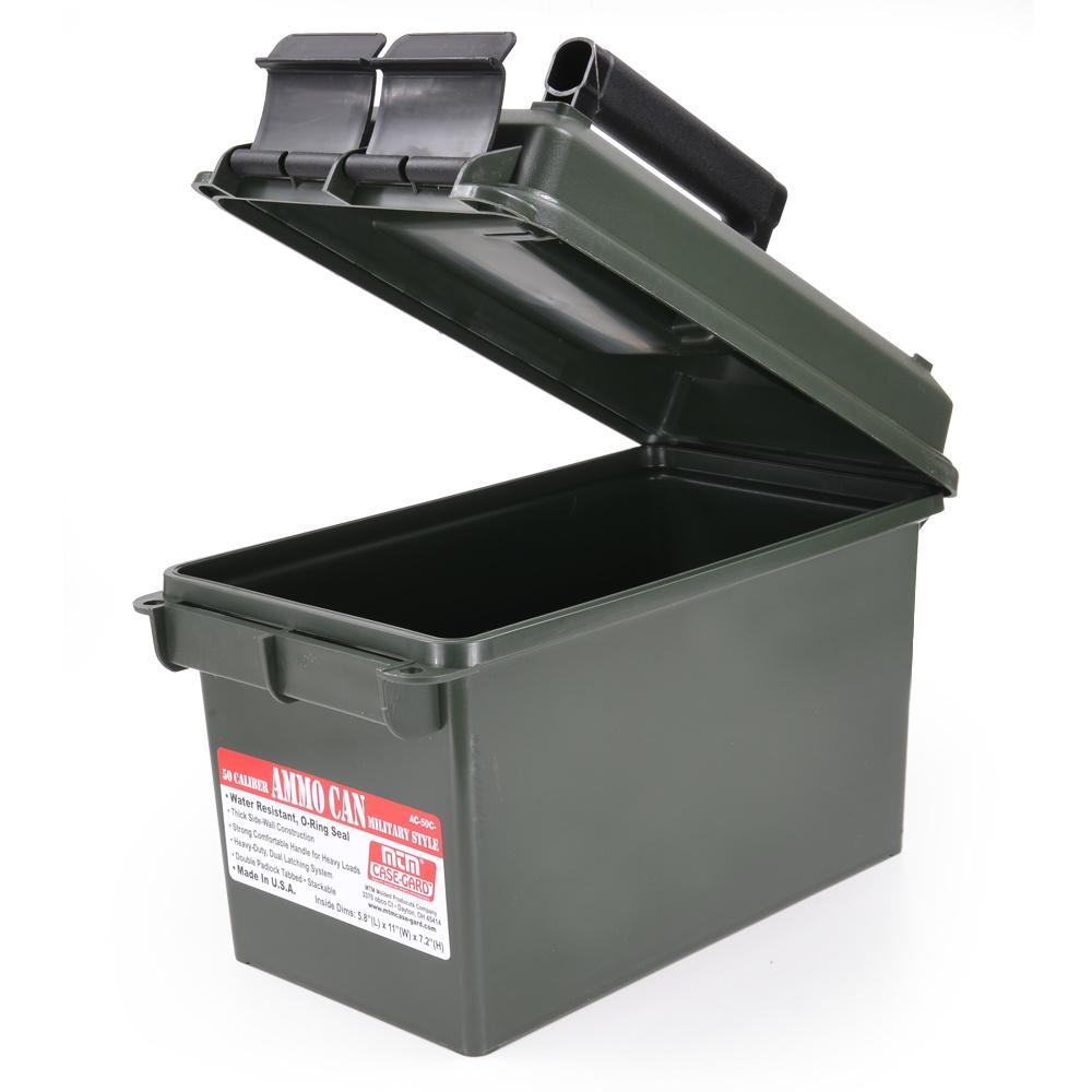 MTM 弾薬ケース.50 キャリバー 樹脂製