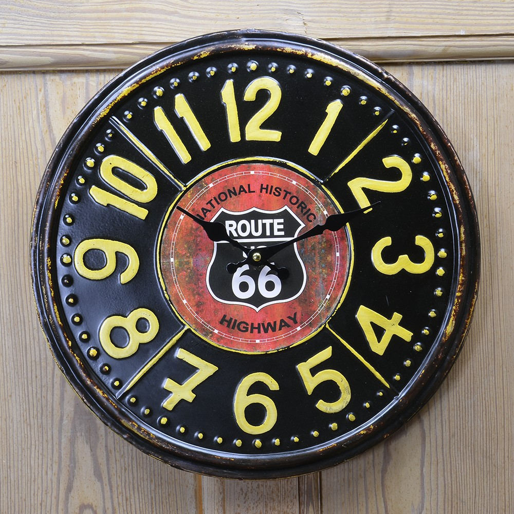 掛け時計 ROUTE66 RTE TIN CLOCK