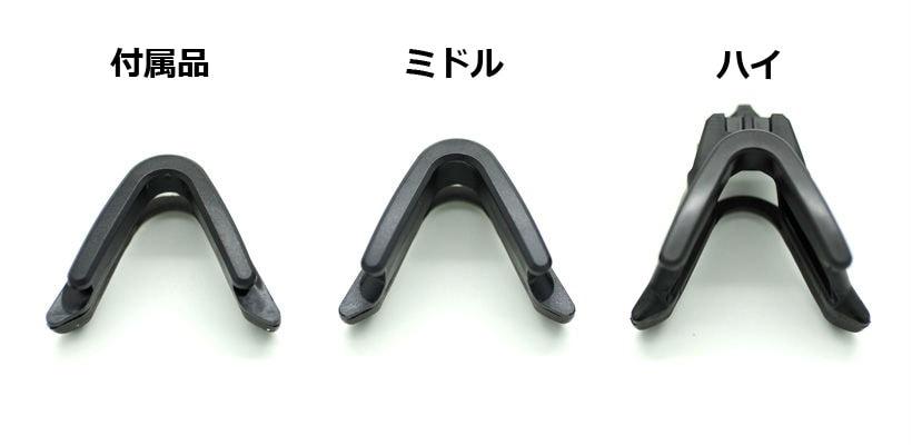 3種類のノーズクリップ