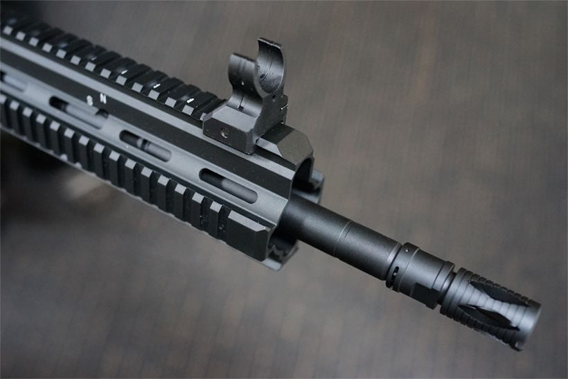 東京マルイ HK417のバレルとレールシステム